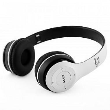 Bison Wireless Bluetooth Stereo Headphones B-85, (White) - Marheba