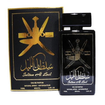 Sultan Al Lail Black EDP 100ml For Him - Marheba
