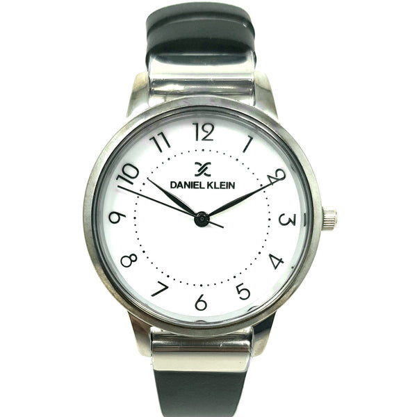 Daniel Klein 11801-1 Leather Band Women Analog Watch-(Black) - Marheba