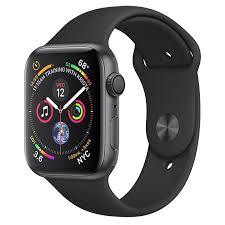 Apple Watch Series 4 GPS 44mm Space Grey Aluminium Case With Black Sport Band - Marheba