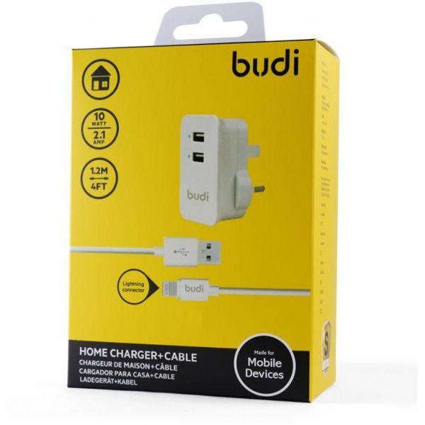 Budi Home charger+Lightning Cable (Warranty:18 Months) - Marheba