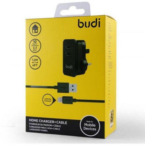 Budi Home charger +Lightning  Cable (Warranty:18 Months) - Marheba