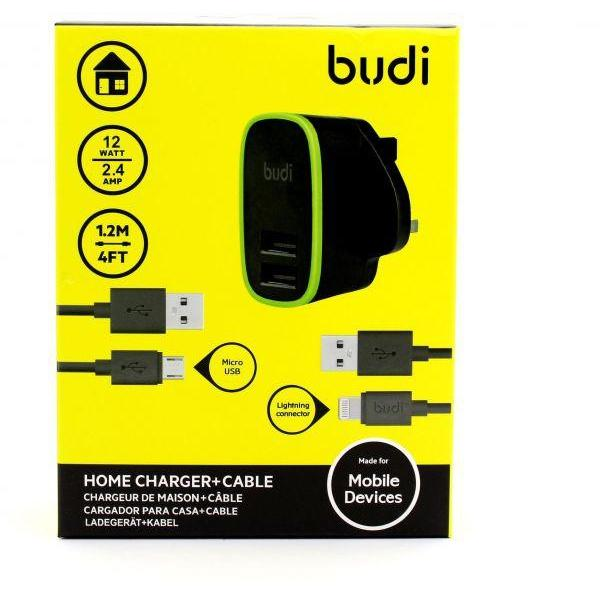 Budi Home Charger Plus Cable 2 in 1 (Warranty:18 months) - Marheba