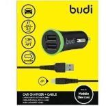 Budi 2 USB Car charger , 061M (Warranty:18 months) - Marheba