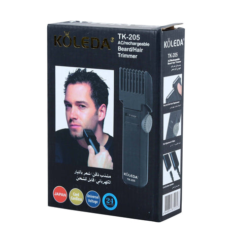 Koleda Japan Rechargeable Hair Trimmer (TK -205) - Marheba