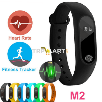 M2 Bluetooth Health Smart Band Fitness Tracker Heart Rate Sensor Smart Bracelet, Water Proof Smart Fitness M2 Band - Marheba