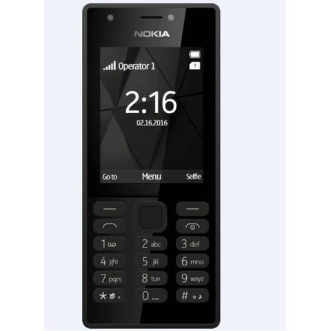 Nokia 216 Dual Sim , 16MB Ram , microSD up to 32 GB , Flashlight , Black