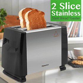 Polartec 2 Slice Bread Toaster 700 Watts, PT1001-White - Marheba