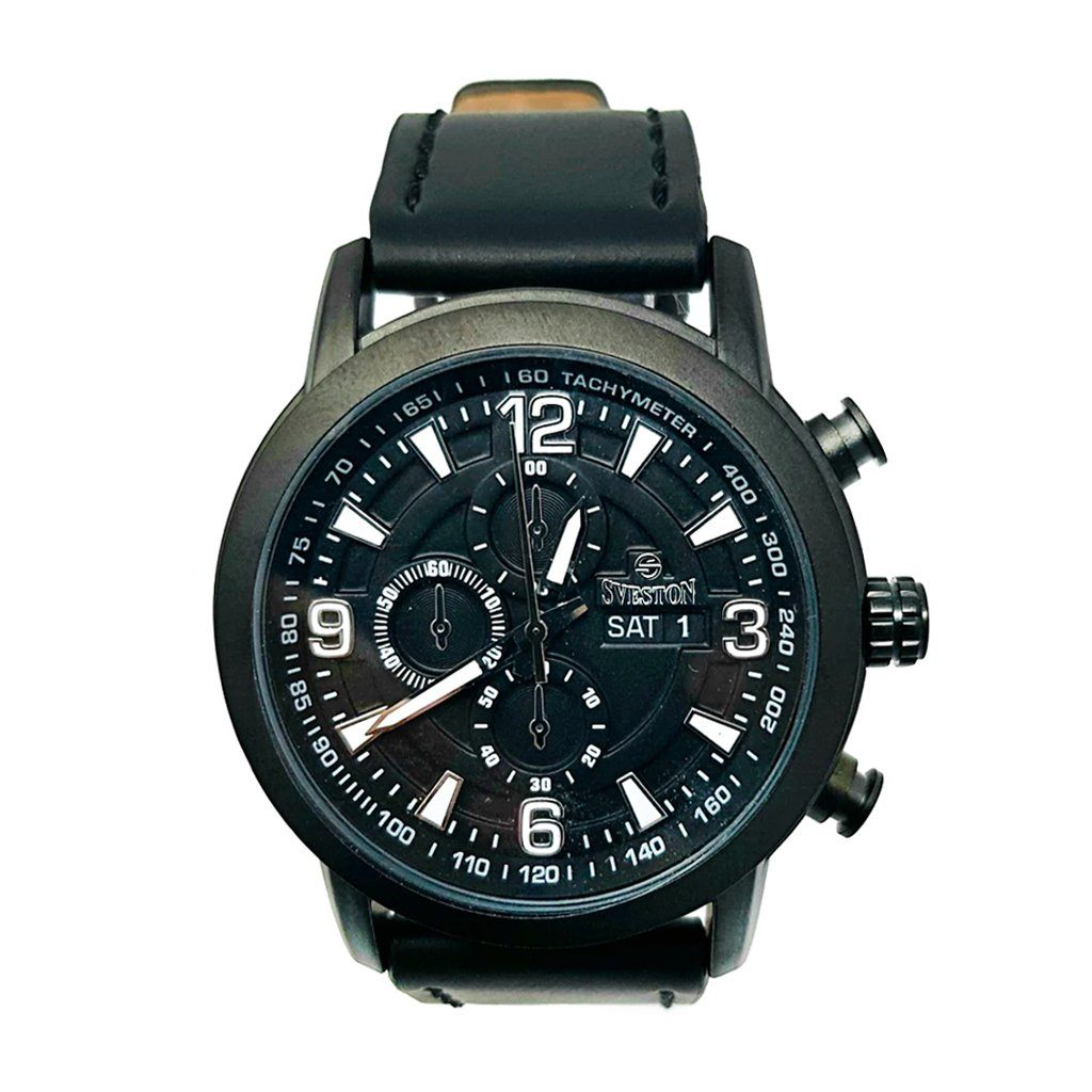 Sveston Leather Band Sports SV-8177 (Black) - Marheba