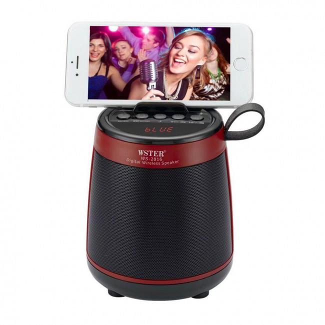 Wster Bluetooth Speaker with Selfie + MPS (WS-2816) - Marheba