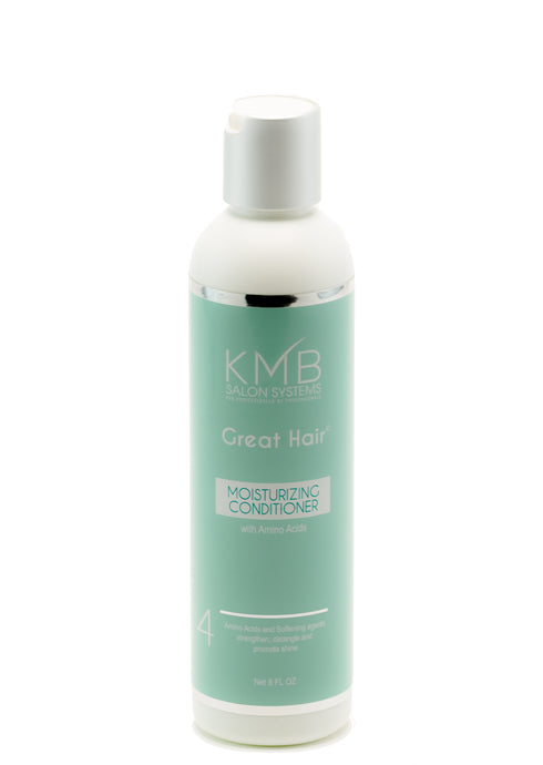 Great Hair Moisturizing Conditioner is paraben free and replenishes moisture to the hair and provides softening agents for manageability.