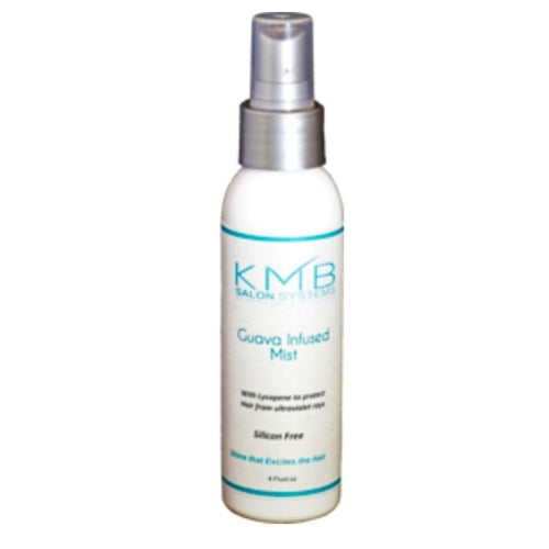 KMB Salon Guava Shine Mist contains vitamins B and C to prevent hair surface damage. The combination of Copra oil esters and Guava give this light smooth oil its effectiveness.  Guava works great with hair extensions and weaves.