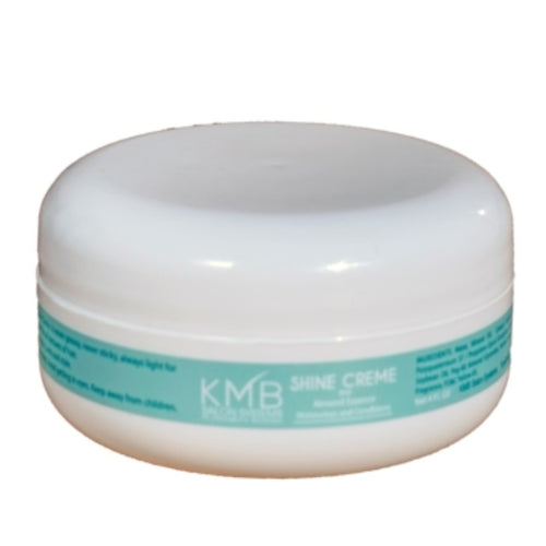 KMB Salon Shine Creme conditions the hair while adding a rich and luxurious sheen. KMB Shine Creme is never greasy, never sticky and always light for more manageable styling versatility for today's hair.