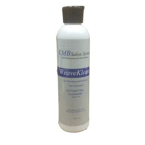 KMB WeaveKlean removes body wastes, product buildup and oils from the scalp, hair and track of weave and hair extensions while fighting bacteria.  WeaveKlean leave the hair and scalp refreshed, purified, and toxin free.