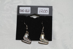 Glittery Ice Skate Earrings