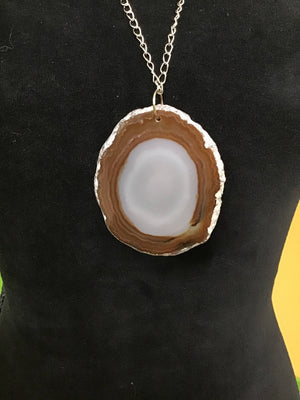 Agate Slice Gray/Brown