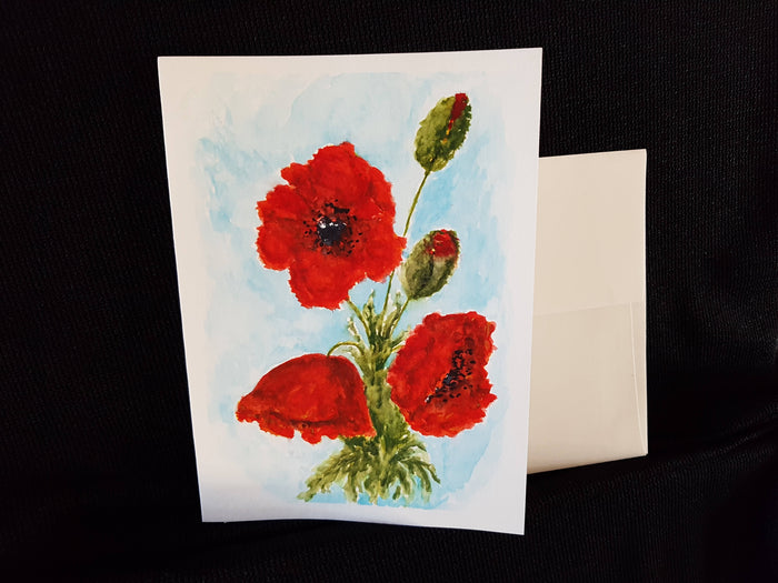 Greeting Card - Poppies