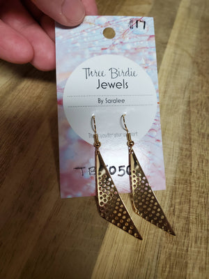 Gold Sleek triangle earrings