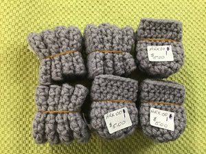 Chair booties gray