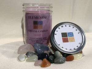 Elemental Candles - Hidden Crystals, Pure Soy (container-med)