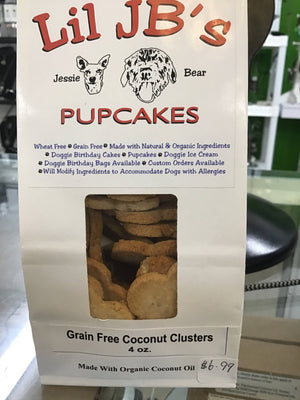 Grain free coconut clusters dog treats
