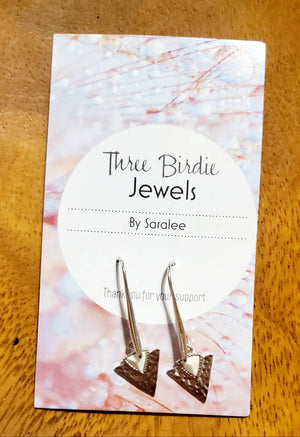 Silver toned hanging earrings