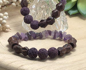 Lava Bead Bracelets/by Simply de novo Creations