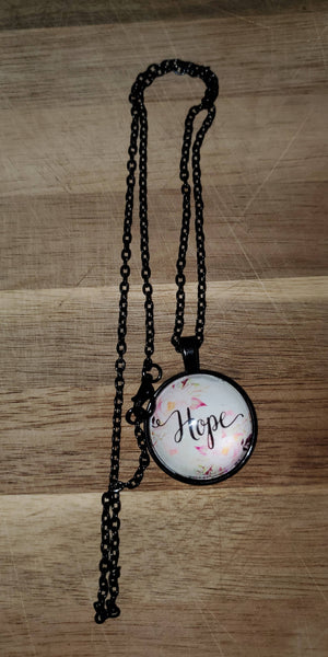 Inspirational dome necklace
