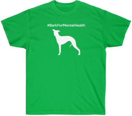 Green L #BarkForMentalHealth Ultra Cotton Tee - WHIPPET