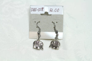 Tiny Silver Elephant Earrings