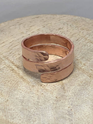 Hammered Copper Wrap Ring/ by Simply de novo Creations