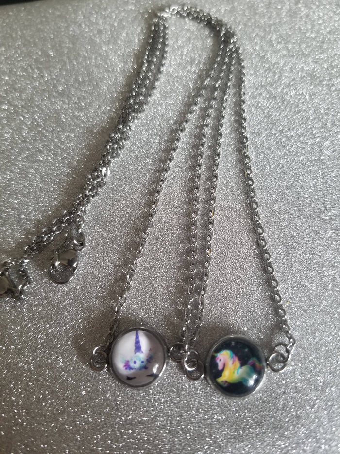 Glass dome necklace
