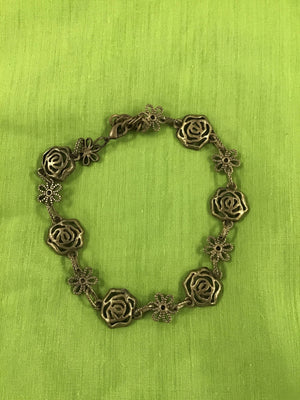 Brass flower bracelet