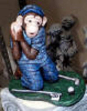 Monkey Golfer Concrete
