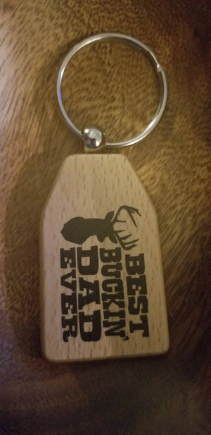 Best Bucking Dad keychain