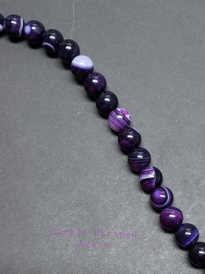 Stripe Agate Beads, Bulk
