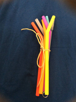 6.5 Silicone Straw Set
