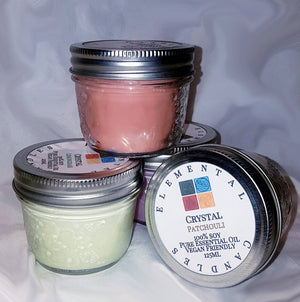 Elemental Candles - Hidden Crystals, Pure Soy (container-sm)