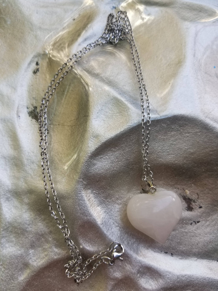 Heart Rose Quartz necklace