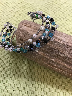 Multi Tiered Beaded Bracelet