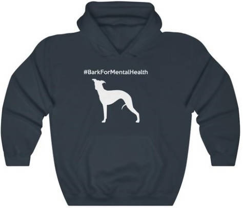 Blue XL #BarkForMentalHealth Unisex Heavy Blend™ Hooded Sweatshirt - WHIPPET