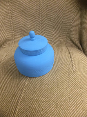 Round Teal Trinket Box