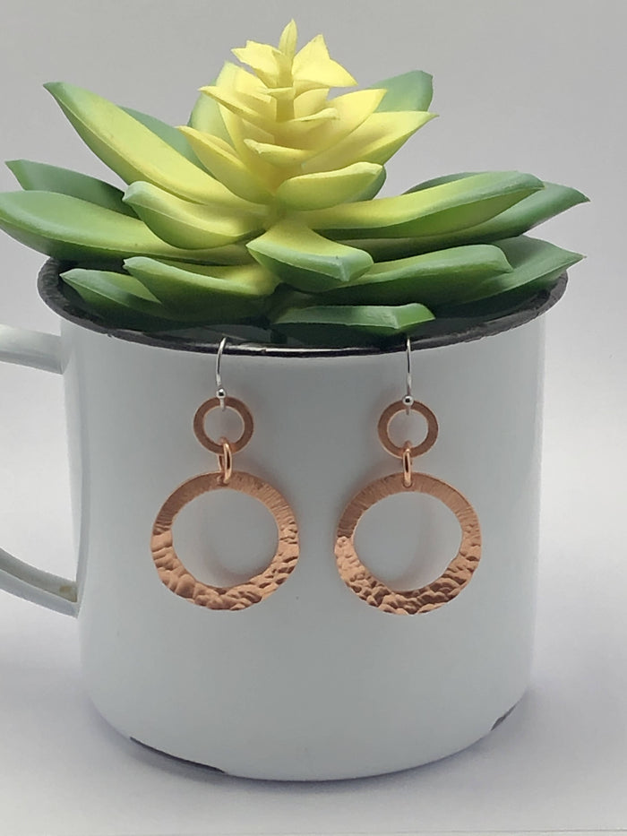 Copper Ring Earrings/by Simply de novo Creations