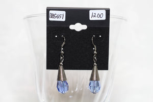 Blue Crystal Cone Earrings