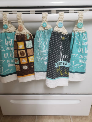 Assorted hanging towel