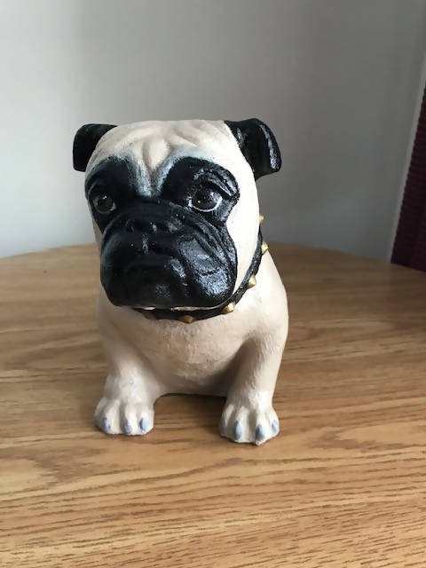 Pug Dog Concrete