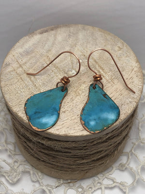 Copper Patina Earrings/ by Simply de novo Creations