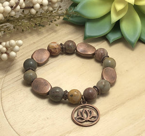 Chinese Jasper Bracelet/by Simply de novo Creations