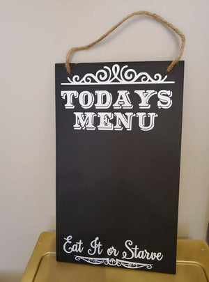 Today's Menu Sign