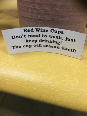 Red Wine Cups